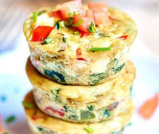 Healthy Way - Muffins vegetarianos de desayuno